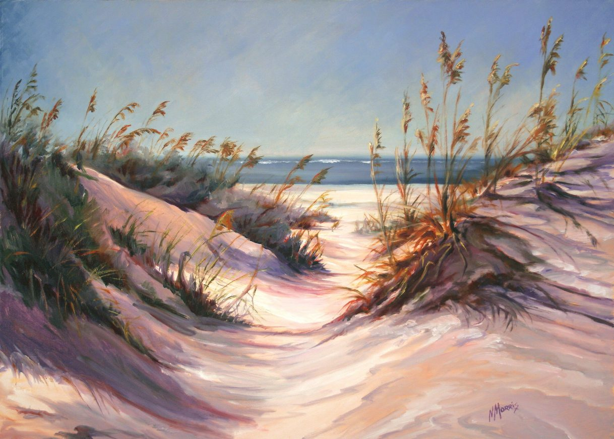 Norma Morris Cable, Dunes Pathway, Oil