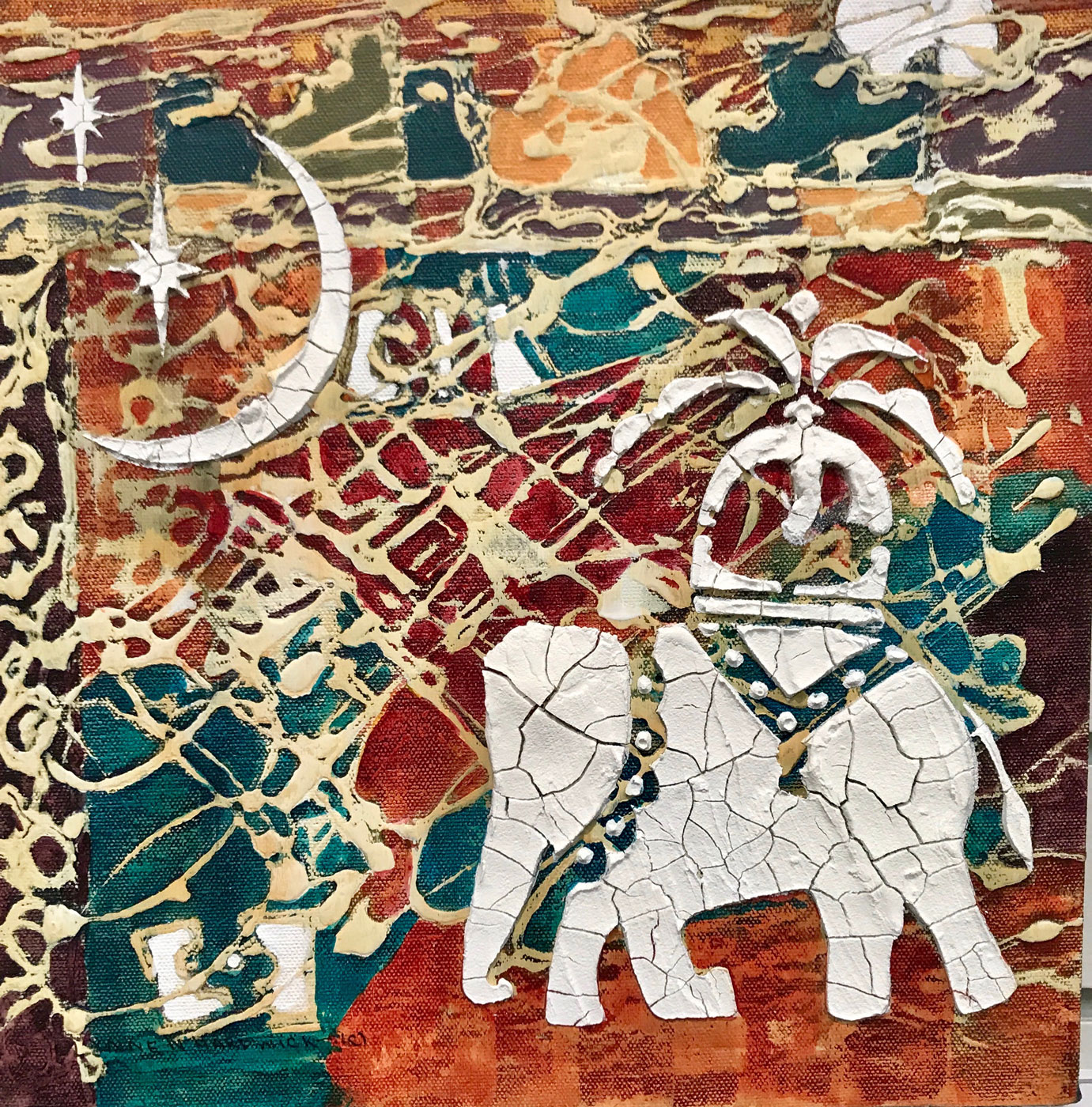 Lynne Hardwick, Abstract Mixed Media, Ayutthaya