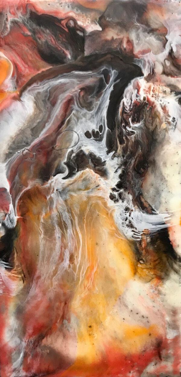 Lynne Hardwick, Equis, encaustic, 6x12