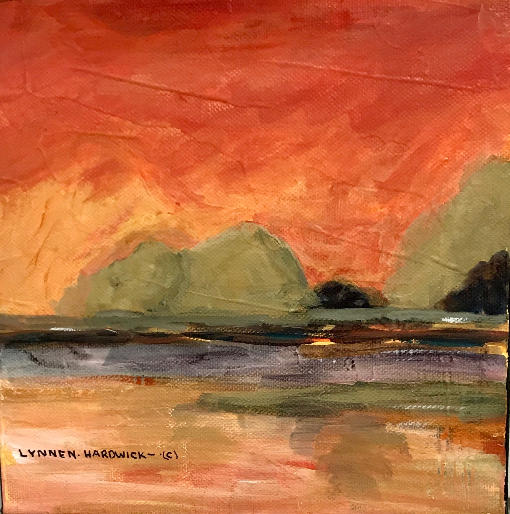 Lynne Hardwick, Mixed Media, Mango Sky