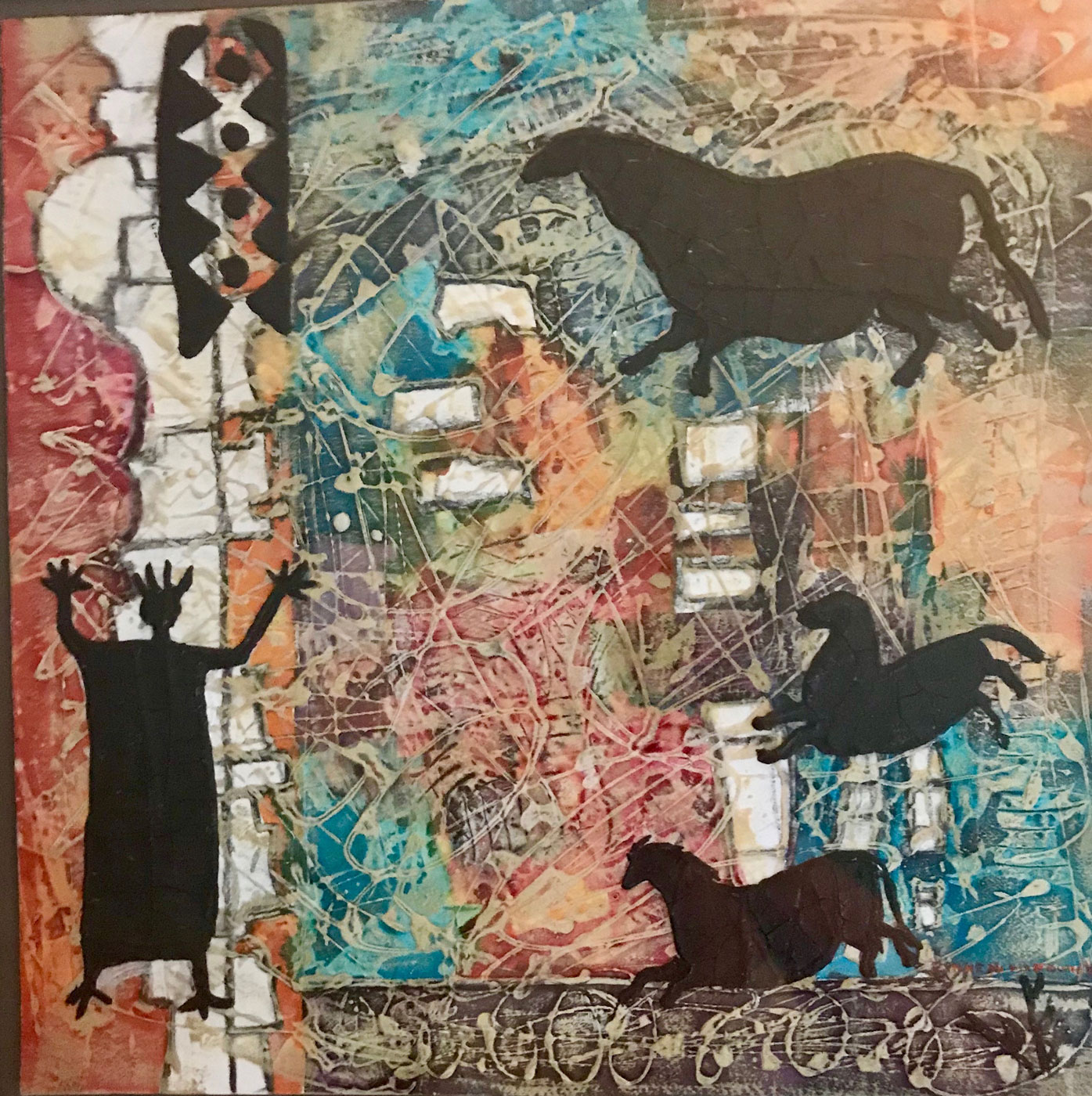 Lynne Hardwick, Petroglyph-XI, Mixed Media