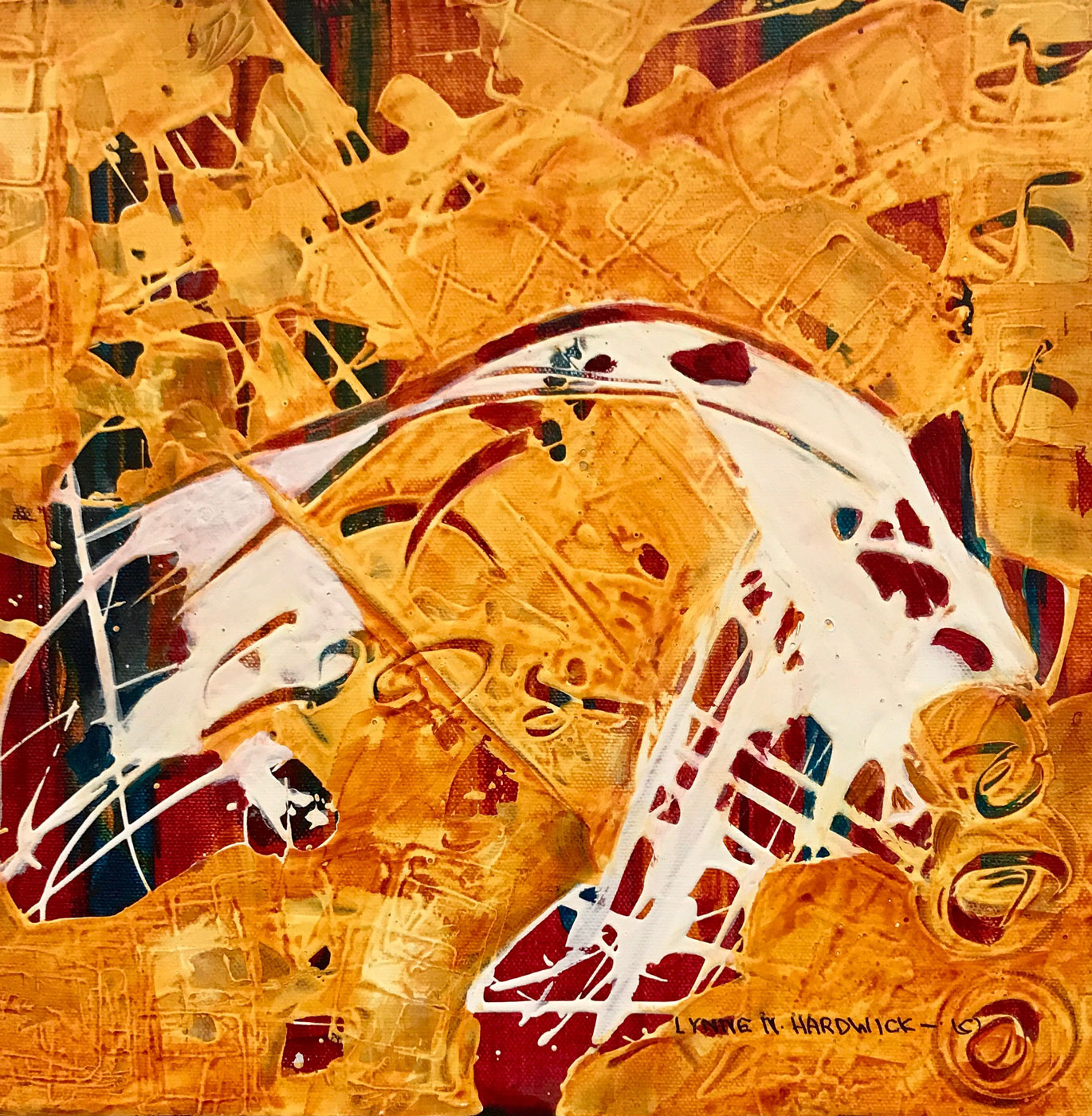 Lynne Hardwick, Phonology-II, Mixed Media,12x12
