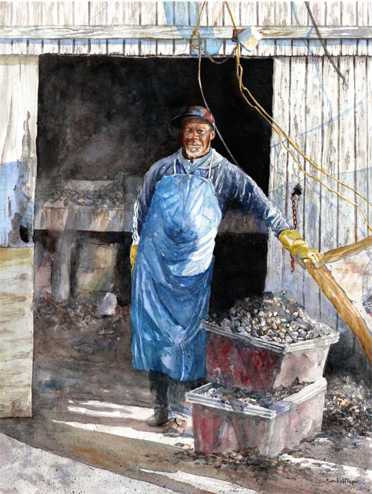 Sandra Roper, Portrait of an Oyster Shucker