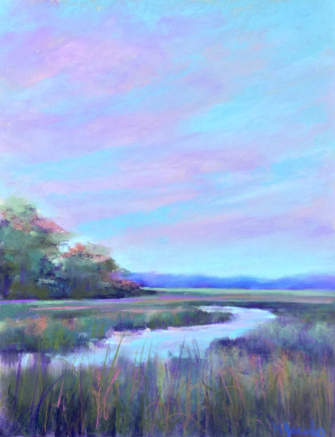 Kellie Jacobs, Marsh View, Pastel, A Beautiful Day