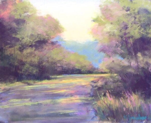 Kellie Jacobs, Pathway, Pastel, Quiet Road