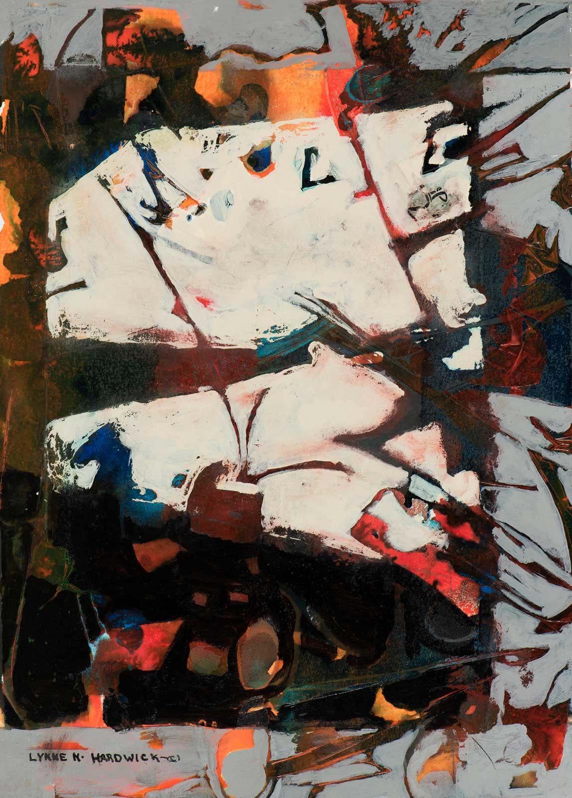 Lynne Hardwick, Nomads-Vision-VIII, Mixed Media, 24x27