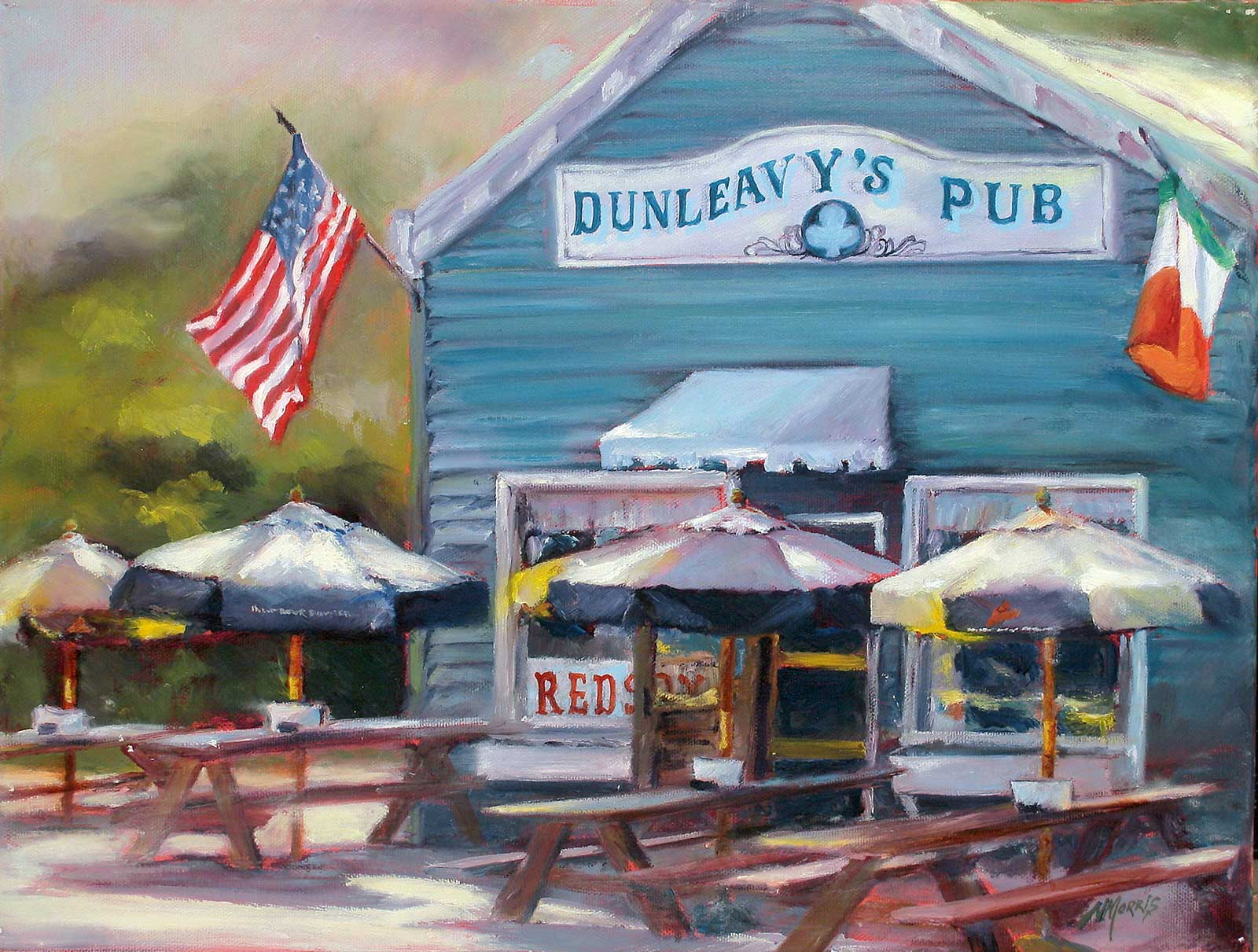 Norma Morris Cable, Dunleavys Pub, 12x16 Oil [Sold] Giclee available