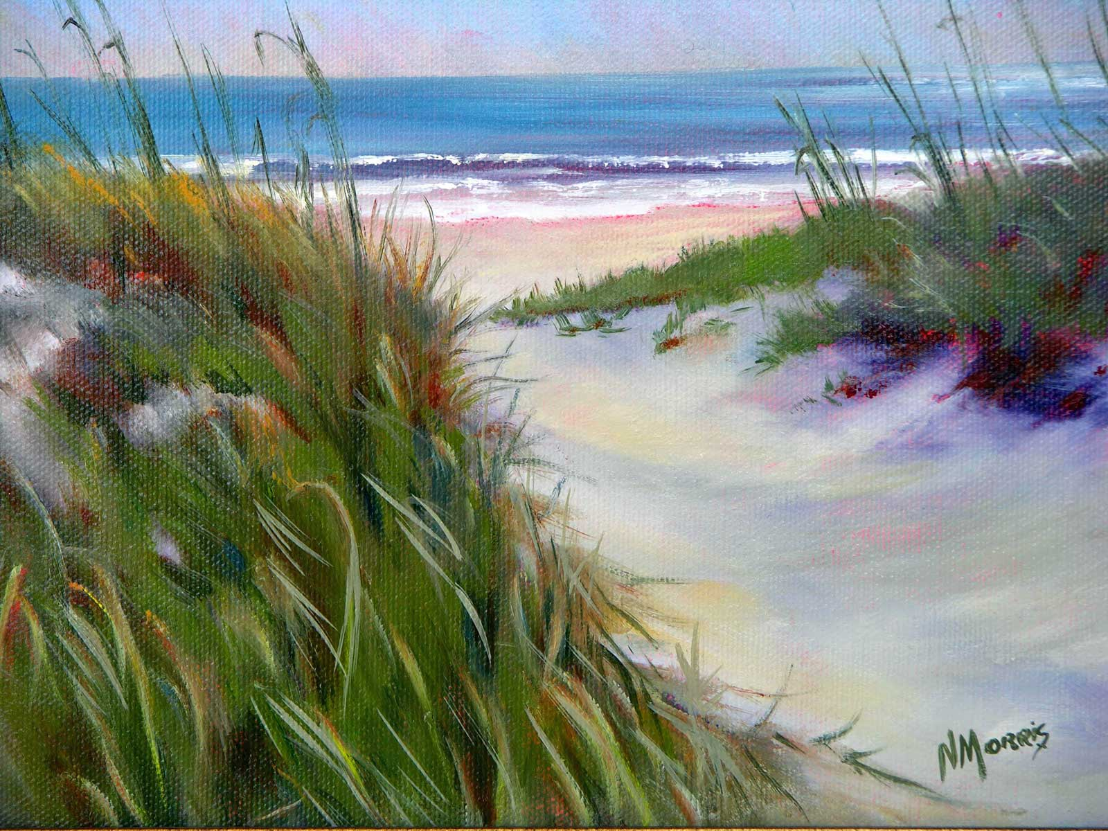 Norma Morris Cable, Pathway to Serenity, 11x14 Oil [Sold] Giclee Available