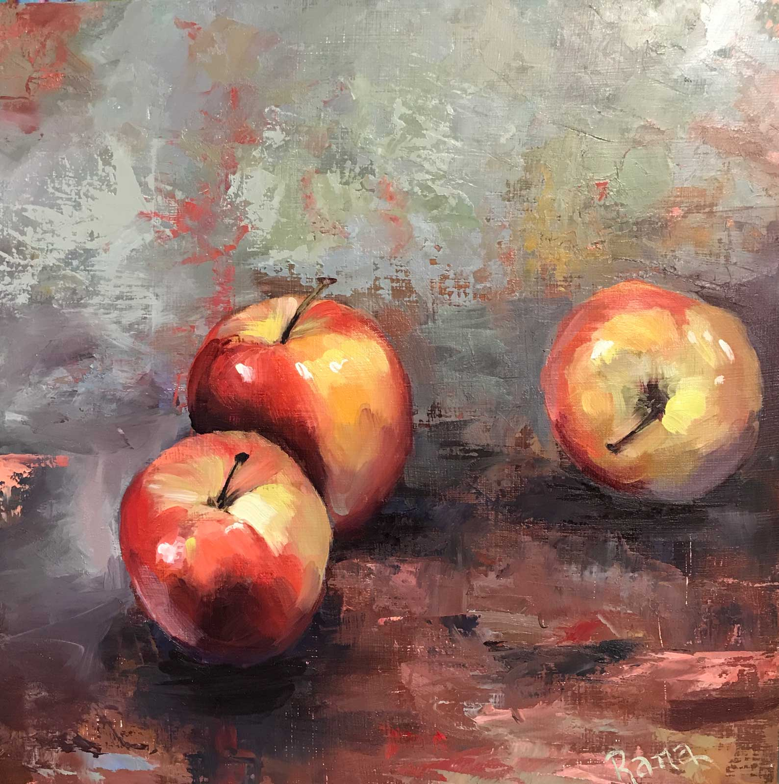 Rana Jordahl, The Apples of My Eyes, 12x12 Oil on board