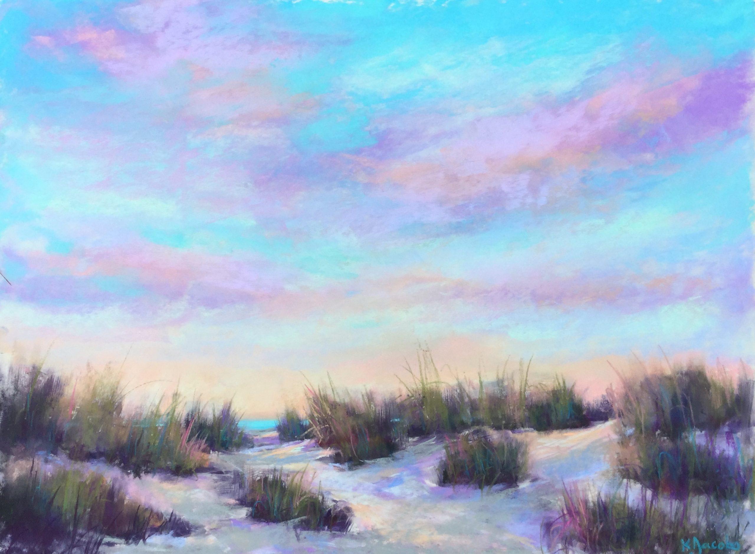 Kellie Jacobs, Dune View, Pastel, Seabreeze