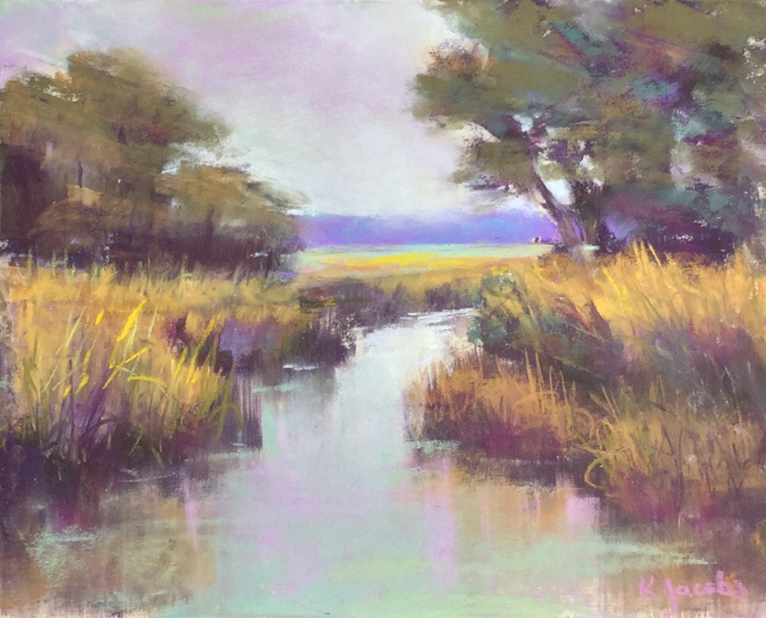 Kellie Jacobs, Marsh View, Pastel, Serenety