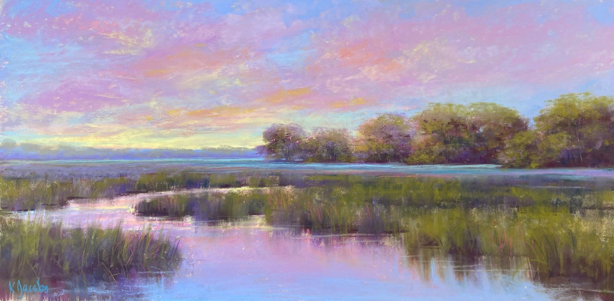 Kellie Jacobs, Marsh View, Pastel