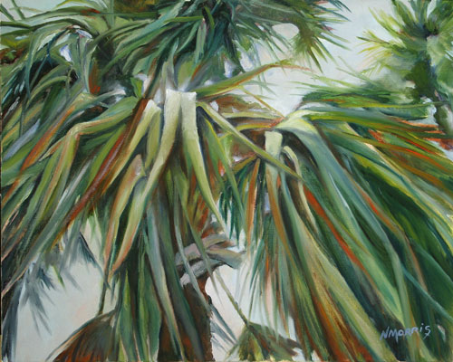 Norma Morris Cable, Carolina Palm Pleasure, Oil