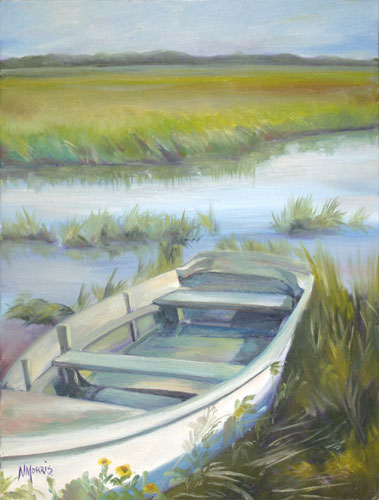 Norma Morris Cable, Marshes Captive, Oil