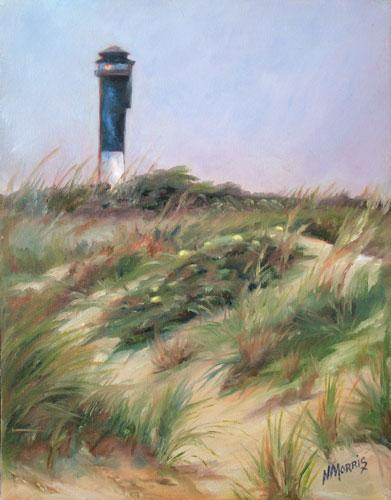 Norma Morris Cable, Sullivans Island Beacon, Oil