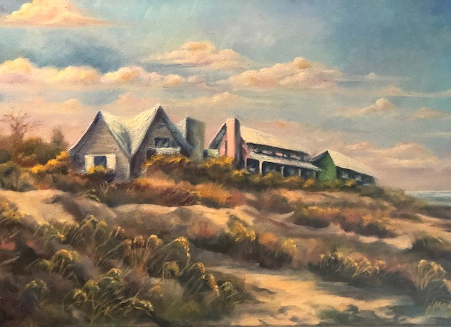 Norma Morris Cable, Three Island Sisters, Oil