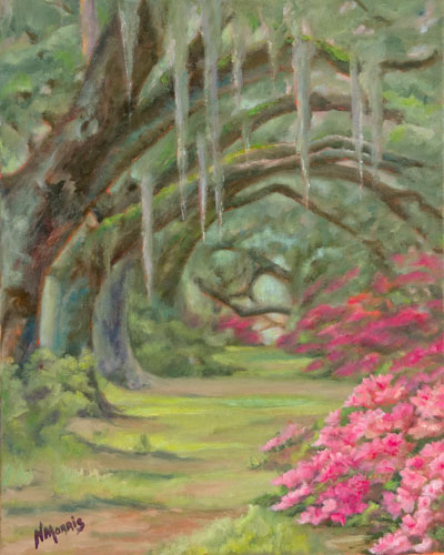 Norma Morris Cable, Sheltered-Pathway, Oil16x20