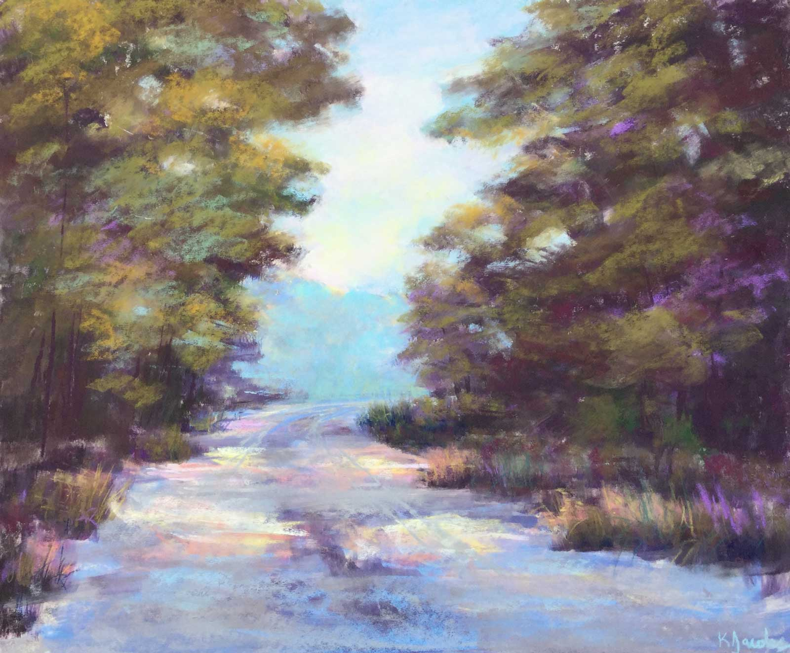 Kellie Jacobs, Making My Way Home, Pastel, 20x24