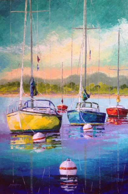 Joyce Harvey, Ocean Suite 24x48 Oil, $2,450