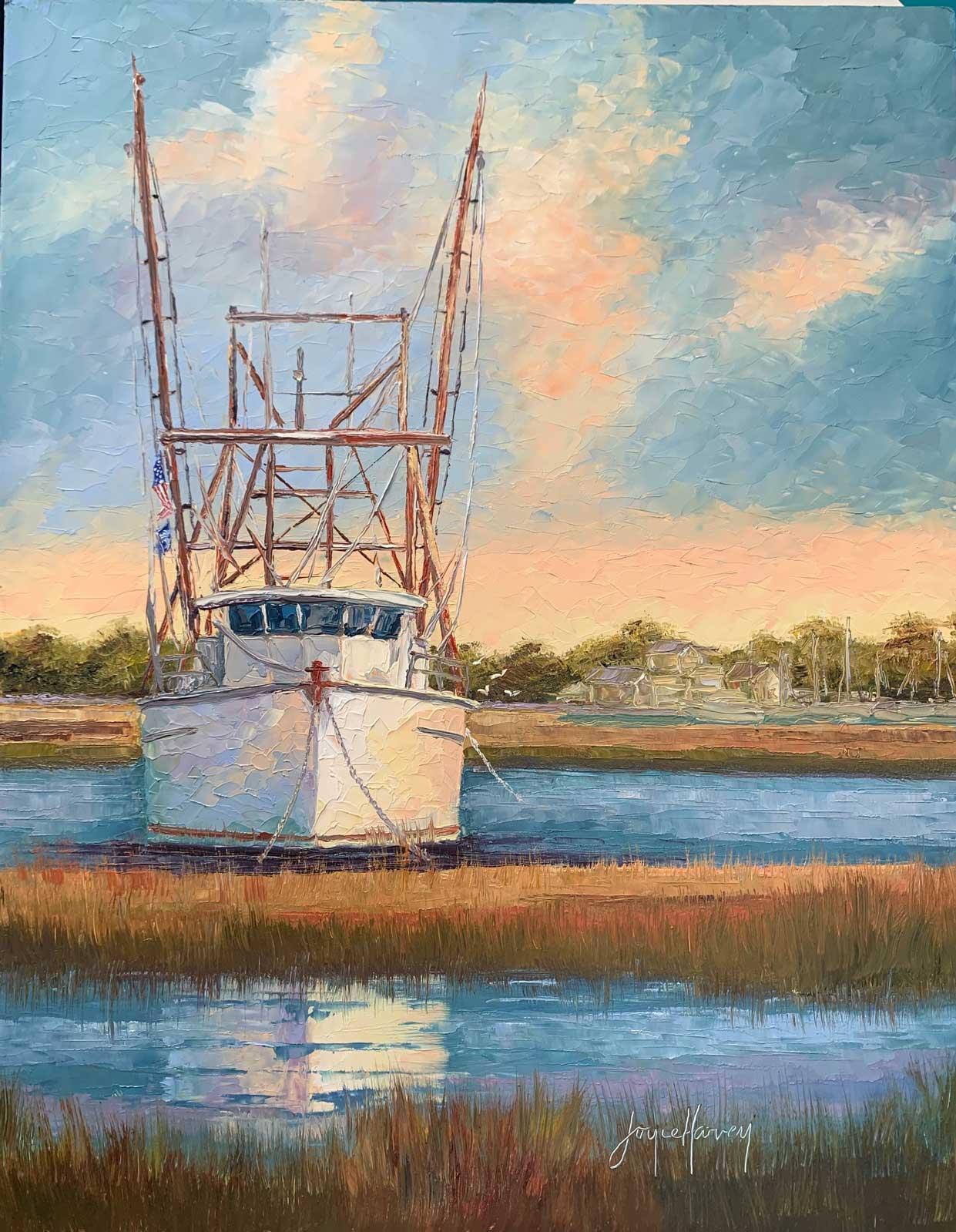 Joyce Harvey Carolina Shrimping16x20 Oil $795
