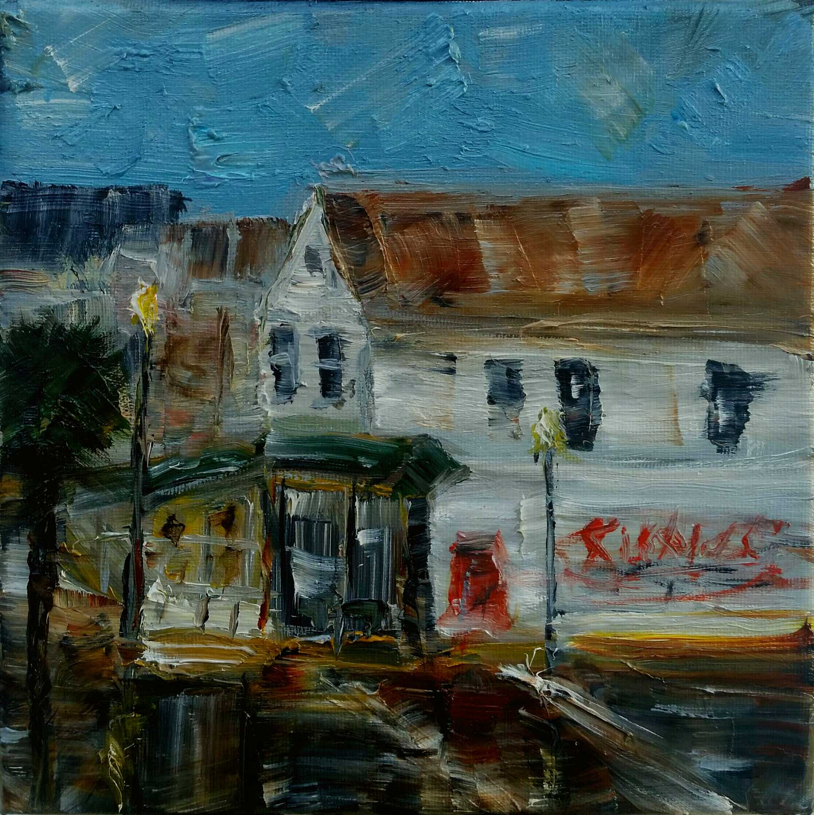 Tommy Beaver, Corner Of King And Cannon, Oil 8x8