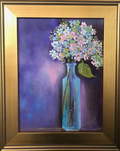 Shelia Thompson Little Blue Bottle Framed Acrylic 12x16 $498