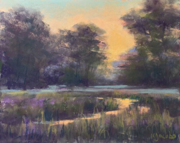 Kellie Jacobs, Early Morning Reflections, Pastel 8x10 $495