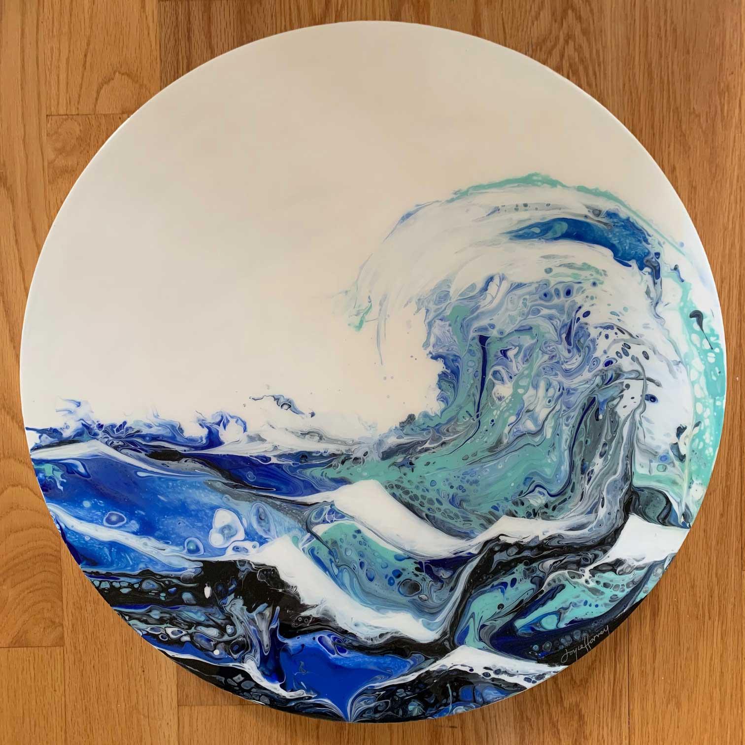 """Joyce Harvey Ocean Locomotionacrylic resin 24"""" $1,100"""