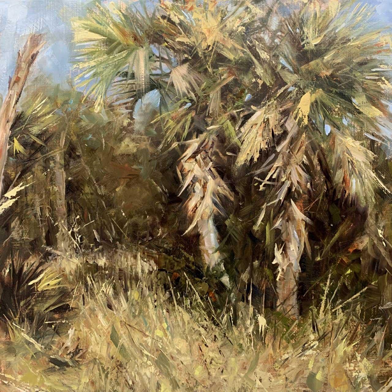 Rana Jordahl, Palm Sunday 10x10 Oil on Board, $450