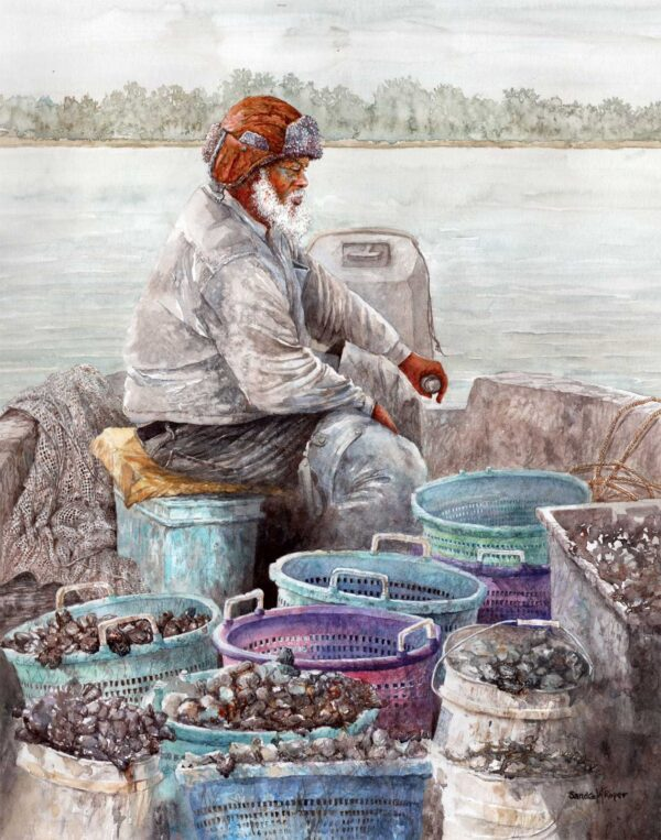 Sandra Roper, Catch of the Day, 16x20 Watercolor, $1350