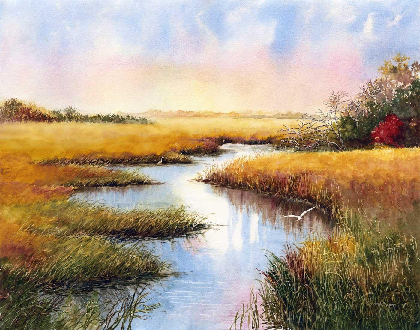 Sandra Roper, Undisturbed 22x28 Watercolor