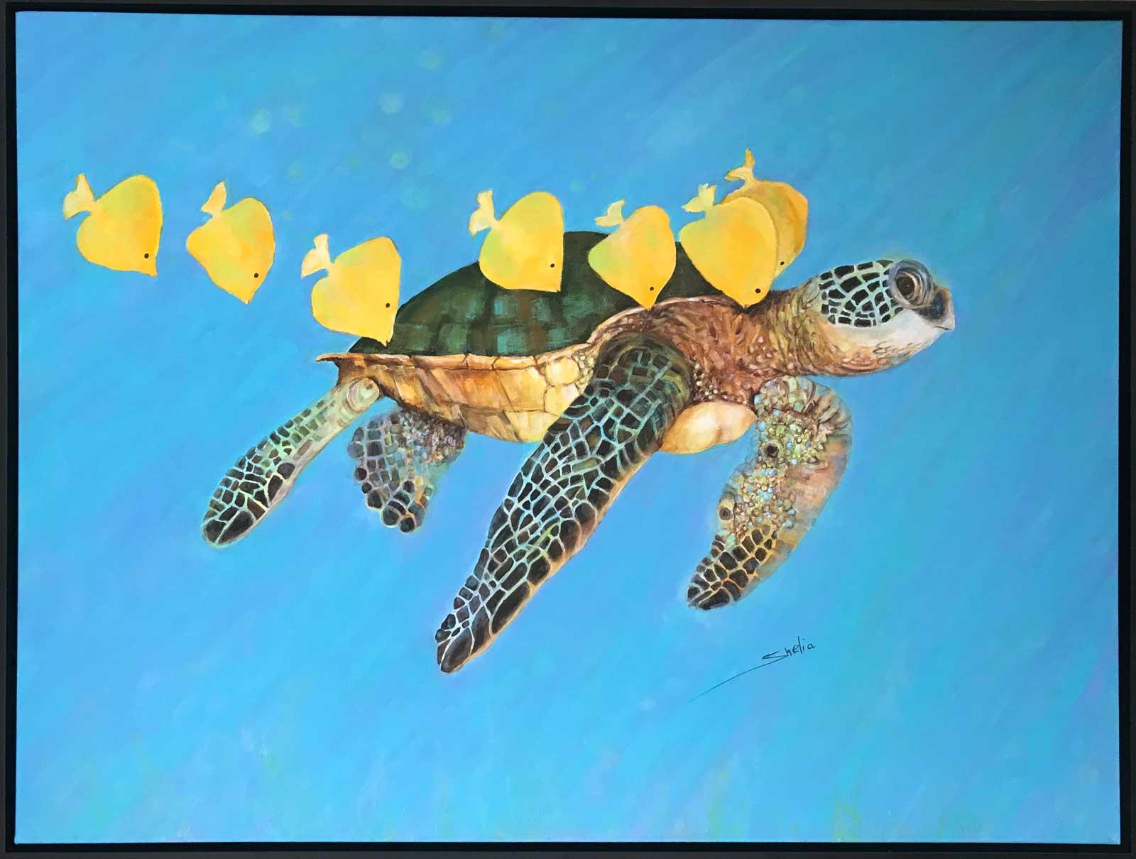 Shelia Thompson, A Turtles Life 30x40 Acrylic $2,000