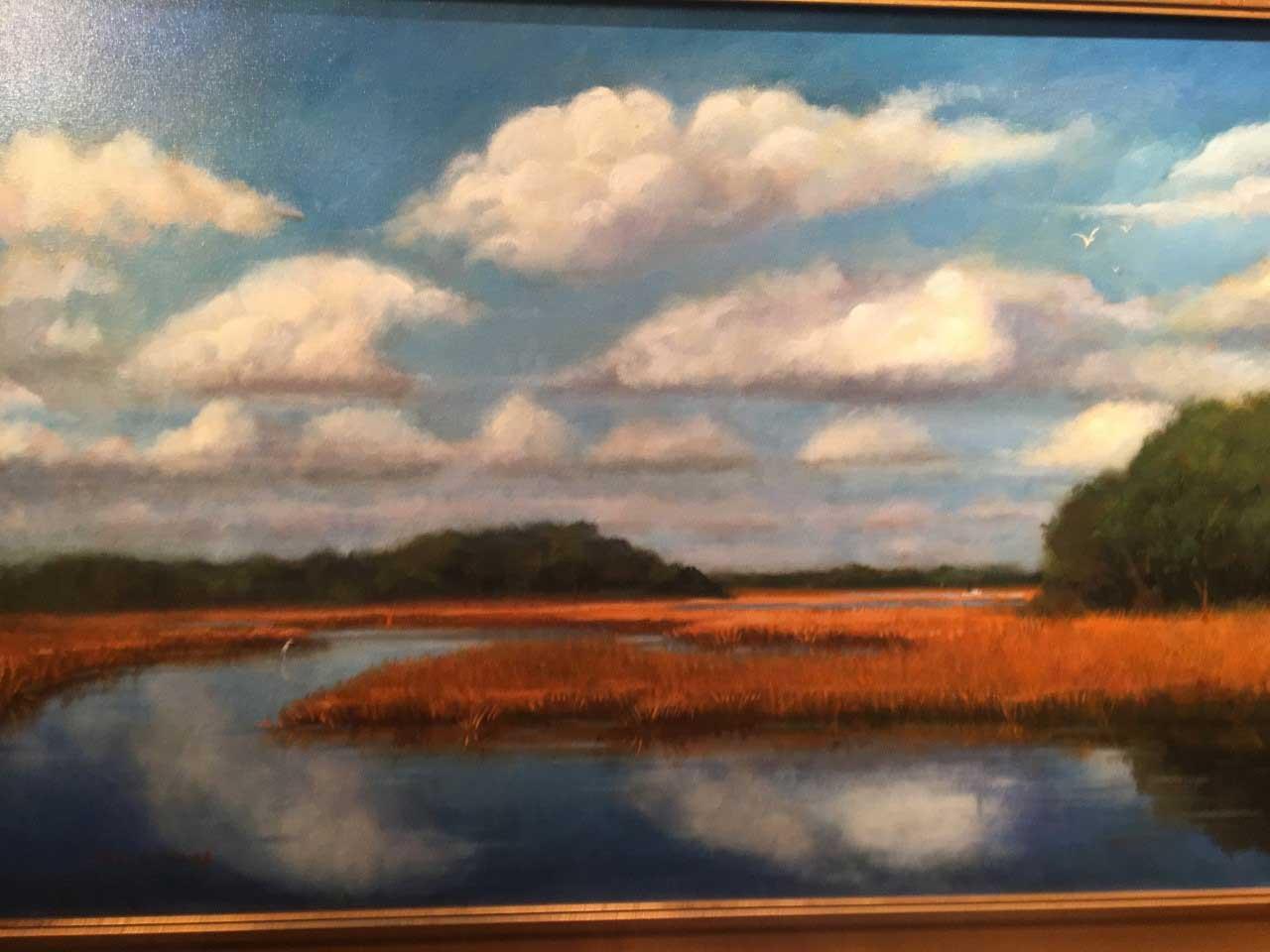 Tim Greaves Carolina Marsh Oil 24x30 $2500