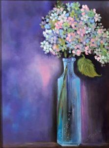 Shelia Thompson Little Blue Bottle Acrylic 12x16 $498