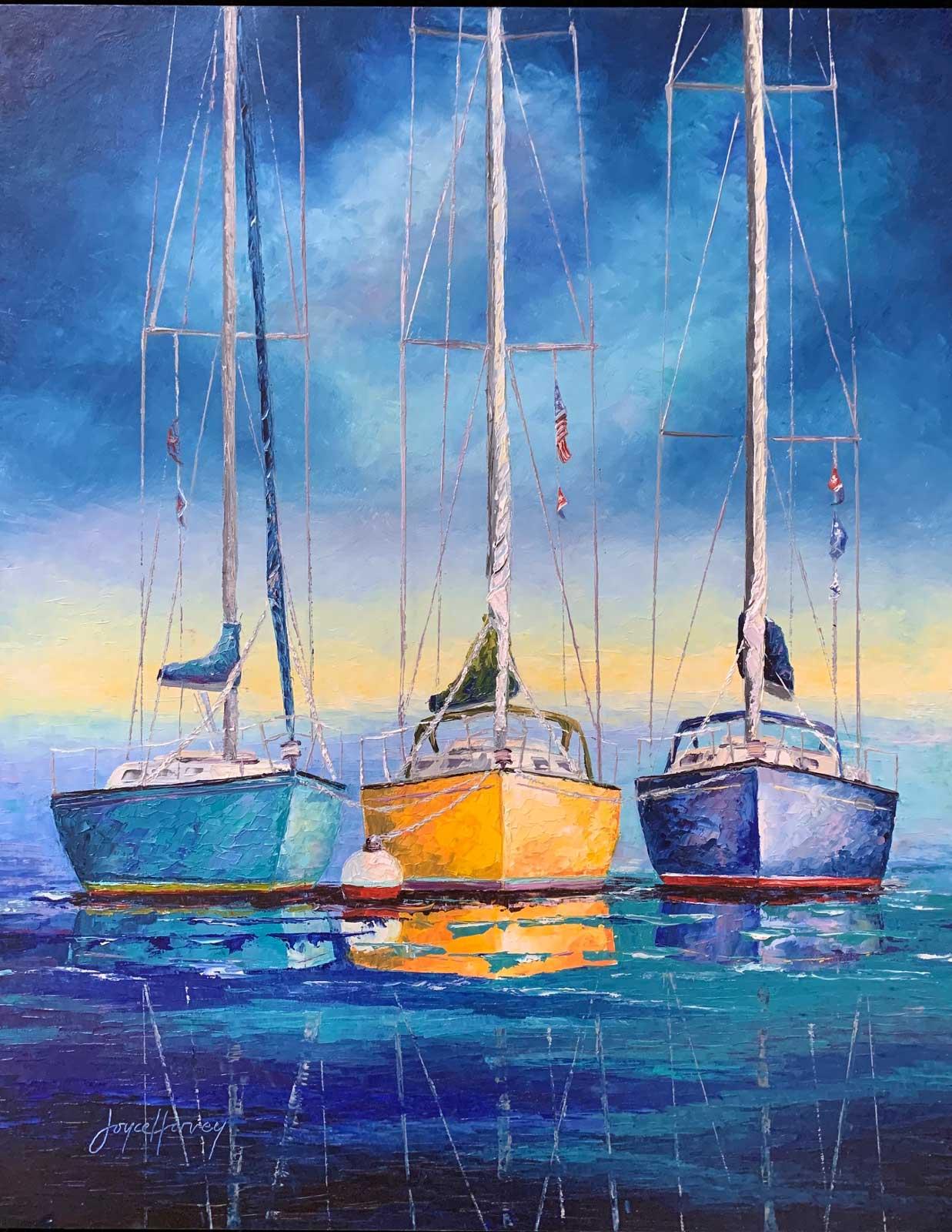 Joyce Harvey three for sail 16x20 oil $825