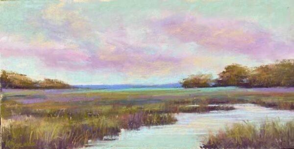 Kellie Jacobs Marsh Panorama Pastel 6x12