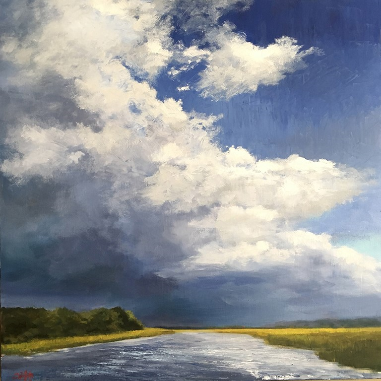 Lisa Willits Storm Warning Oil 24x24 $2100
