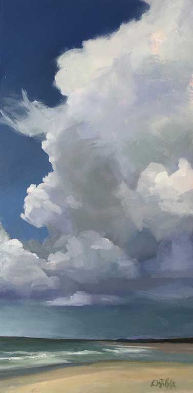 Lisa Willits Summer Sky 6x12 oil on panel 295