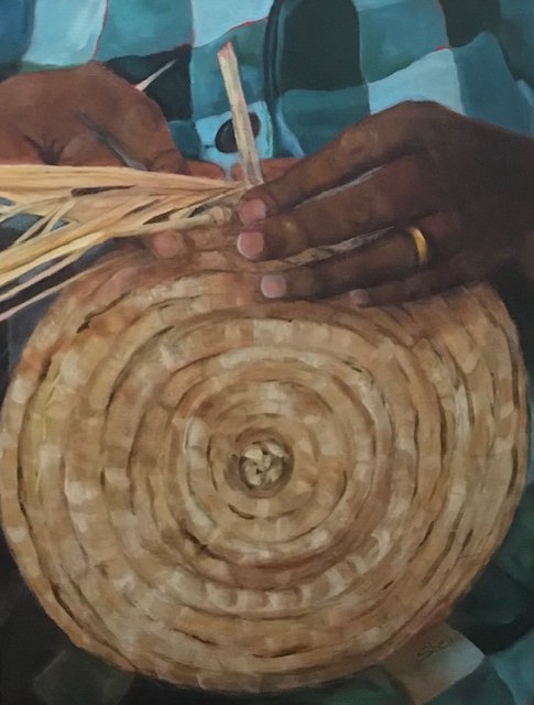 Shelia Thompson, Making Baskets