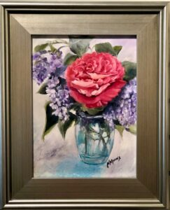 Norma Cables, Swiss Bouquet, Lilacs and Rose