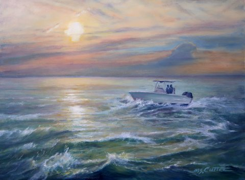 Margaret Cutter, Sunset over Lake Erie