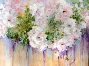 Sheila Thompson, White Roses on a Fence