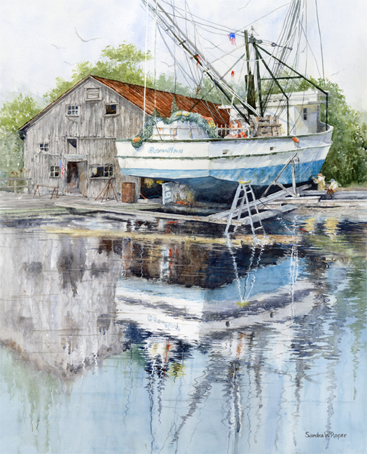 Sandra Roper, Dry Dock Reflections